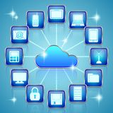 Cloud computing scheme Stock Photos