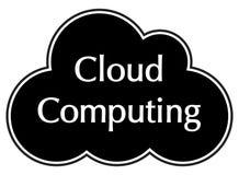 Cloud Computing-Schwarz-Schattenbild stockfotos