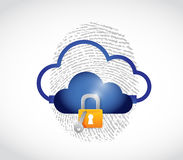 Cloud computing secure technology concept Royalty Free Stock Photos