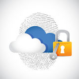 Cloud computing secure technology concept Royalty Free Stock Image