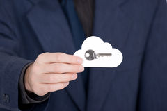 Cloud computing security Stock Photo