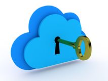 Cloud computing security Royalty Free Stock Photography