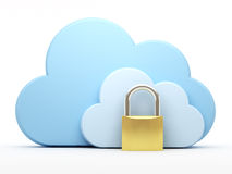 Cloud computing, security Stock Photos