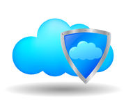 Cloud computing security Royalty Free Stock Images