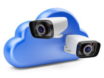 Cloud computing with a security camera. Royalty Free Stock Photography