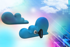 Cloud computing security Stock Photos