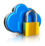 Cloud computing security concept stock illustration