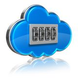 Cloud computing security concept Stock Photography