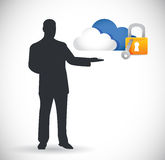 Cloud computing security concept illustration Royalty Free Stock Photos
