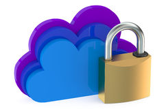 Cloud computing security concept Stock Images