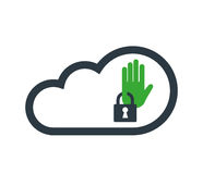 Cloud Computing with Security Icon Royalty Free Stock Photography