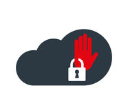 Cloud Computing with Security Icon Stock Photo