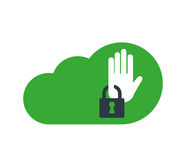Cloud Computing with Security Icon Royalty Free Stock Photo