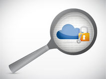 Cloud computing security under review. concept Stock Photos