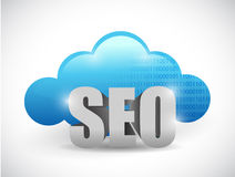 Cloud computing seo text illustration design Royalty Free Stock Image