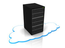 Cloud computing server Stock Image