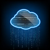 Cloud computing. Server for data storage. Abstract technology ba Stock Photography