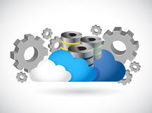 Cloud computing server industry illustration Royalty Free Stock Photography