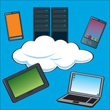 Cloud Computing Servers Stock Photos
