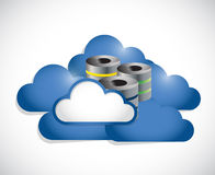 Cloud computing and servers illustration design Royalty Free Stock Photography