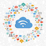Cloud computing service circle Royalty Free Stock Photo