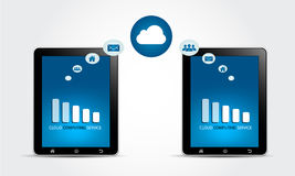 Cloud Computing Service Concept Stock Photography