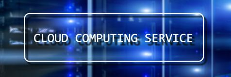 Cloud computing service concept on Supercomputer blurred background.  royalty free stock photos
