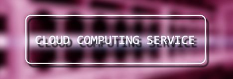 Cloud computing service concept on Supercomputer blurred background.  stock photography