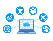 Cloud, computing, service illustration. Stock Images