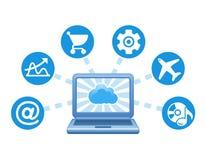 Cloud, computing, service illustration. Stock Images