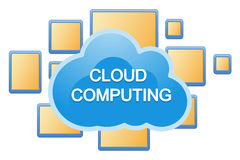 Cloud, computing, service illustration. Royalty Free Stock Images