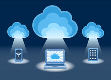 Cloud, computing, service illustration. Stock Photo