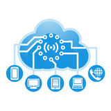 Cloud, computing, service illustration. Royalty Free Stock Image