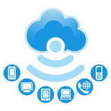 Cloud, computing, service illustration. Stock Photo