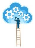 Cloud, computing, service illustration. Stock Image