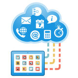Cloud, computing, service illustration. Royalty Free Stock Photos