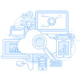 Cloud computing service and internet Royalty Free Stock Photos