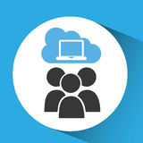 Cloud computing service laptop group Stock Photography