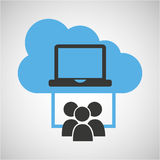 Cloud computing service laptop group Royalty Free Stock Image