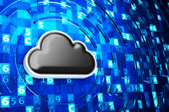 Cloud computing service, remote data storage and network security technology concept Stock Photography