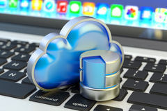 Cloud computing service, remote data storage and network technology concept Royalty Free Stock Photos