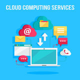Cloud Computing Services Banner Royalty Free Stock Images