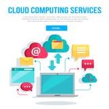 Cloud Computing Services Banner Stock Photos