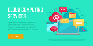 Cloud Computing Services Banner Stock Images