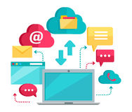 Cloud Computing Services Banner Stock Photography