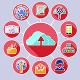Cloud computing services and data sharing concept Royalty Free Stock Photos