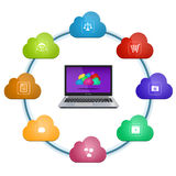 Cloud computing services Stock Photo