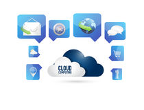 Cloud computing and set of tools concept Stock Photography