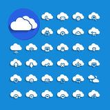 Cloud computing with shadow icon set, vector eps10 Stock Photo