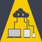 Cloud computing share music Stock Photos
